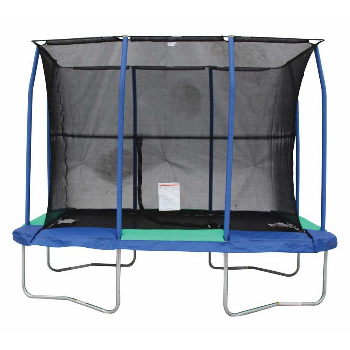 Jumpking 7 X 10 Foot Rectangular Galvanized Trampoline With Padded Enclosure - image 1 of 5