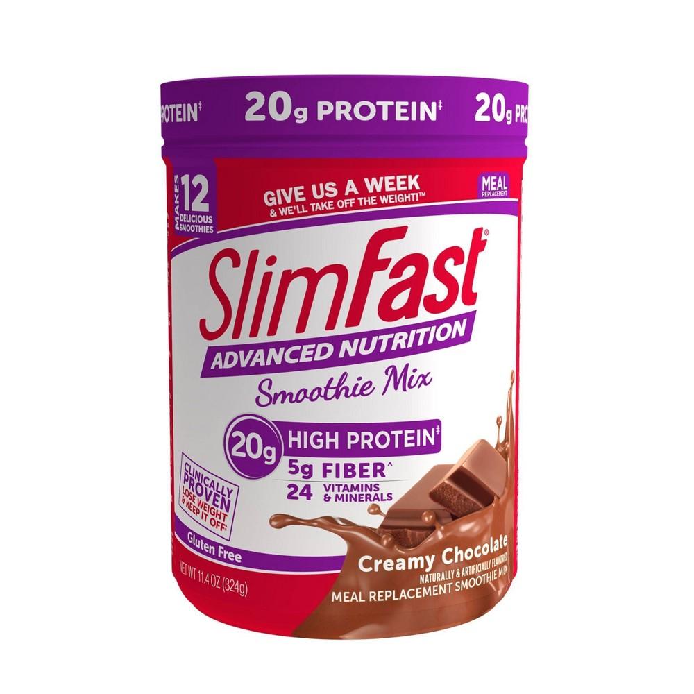 SlimFast Advanced Nutrition High Protein Smoothie Mix - Creamy Chocolate - 11.4oz, Adult Unisex