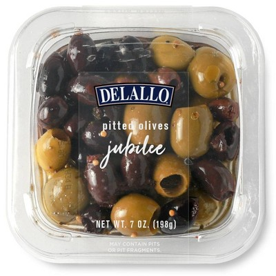 DeLallo Pitted Olives Jubilee in Oil - 7oz