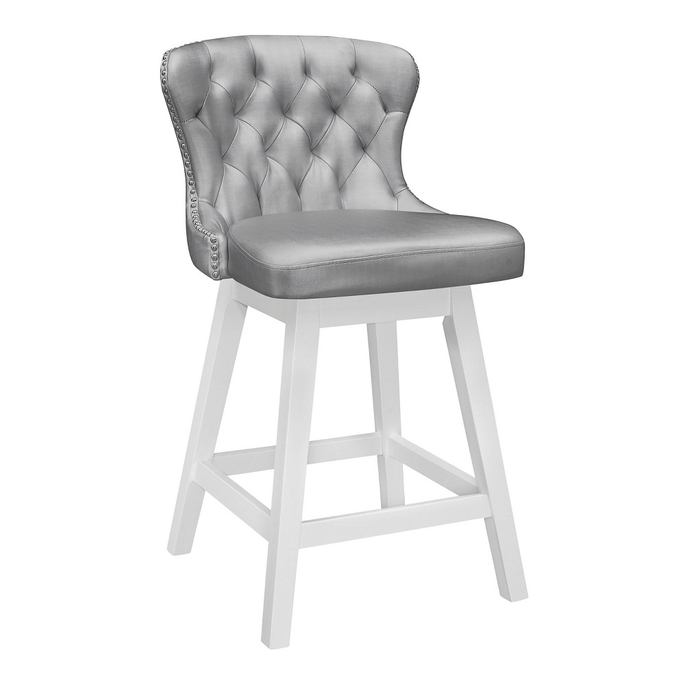 Rosabella Wood Swivel Counter Height Barstool White Hillsdale Furniture