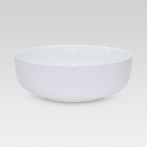 Porcelain Beaded Serving Bowl White 160oz - Threshold™ - image 1 of 1