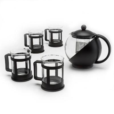 Primula Halfmoon 10-Piece Teapot Gift Set - Black