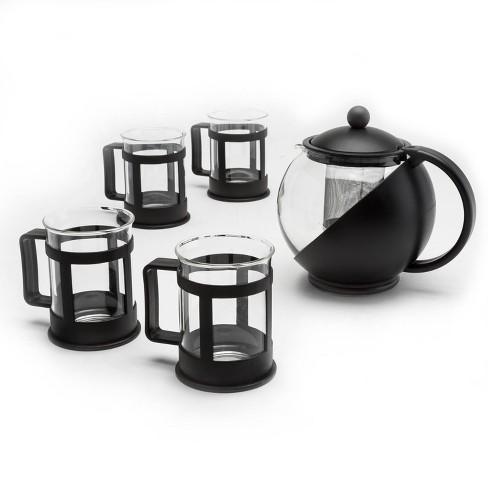 Primula Halfmoon 10-Piece Teapot Gift Set - Black - image 1 of 4