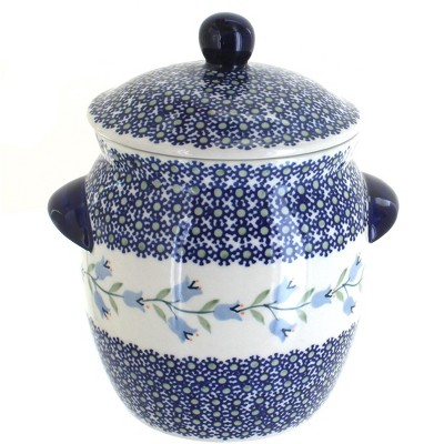 Blue Rose Polish Pottery Tulip Small Canister