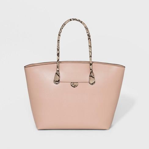 Large Tote Handbag - A New Day™ Brown - image 1 of 3