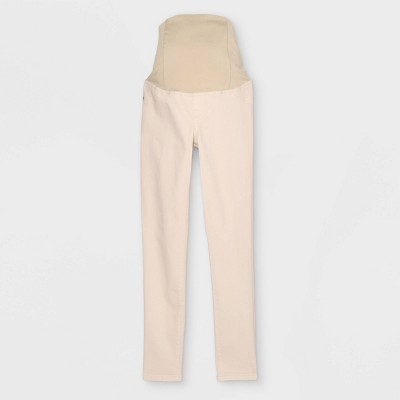 Crossover Panel Skinny Maternity Jeans - Isabel Maternity by Ingrid & Isabel™ Ecru