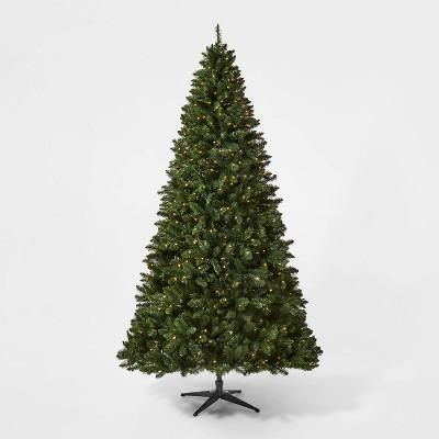 9ft Pre-lit Full Alberta Spruce Clear Lights AutoConnect Artificial Christmas Tree - Wondershop™