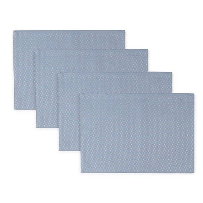 """4pk 13""""X19"""" Mckenna Placemats Blue - Town & Country Living"""
