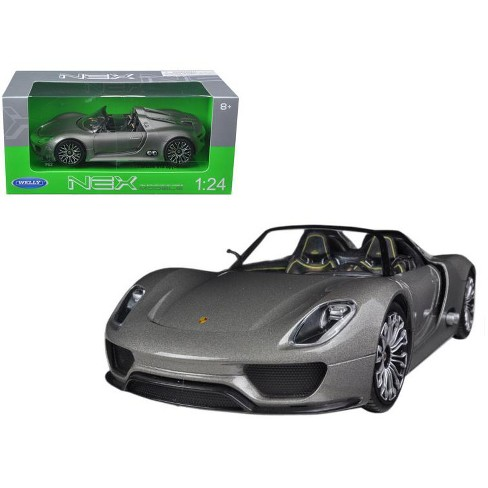 Porsche 918 Spyder Grey Open Roof 1 24 Diecast Mode Target