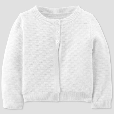 Baby Girls' Sweater - Just One You® made by carter's White 6M