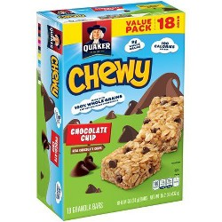Quaker Chewy Chocolate Chip Granola Bars - 18ct