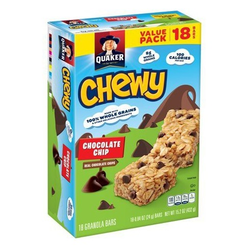 Quaker Chewy Chocolate Chip Granola Bars - 18ct - image 1 of 9