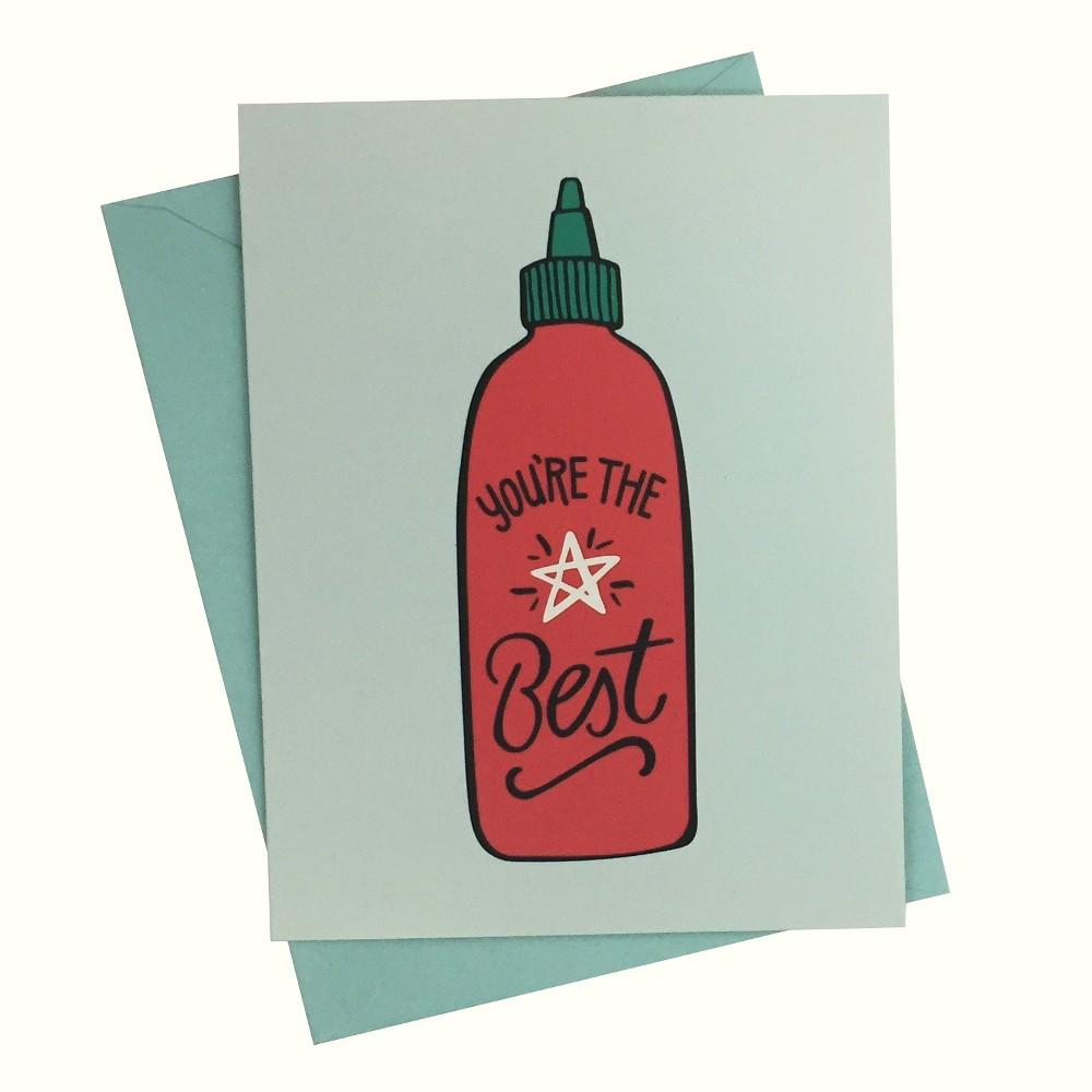 """Image of """"4.25""""""""x5.5"""""""" 10ct You're the Best Siracha - Paper Riot"""""""