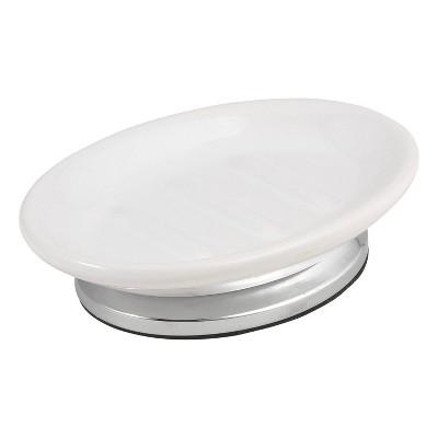 Isabella Soap Dish White/Chrome - Popular Bath