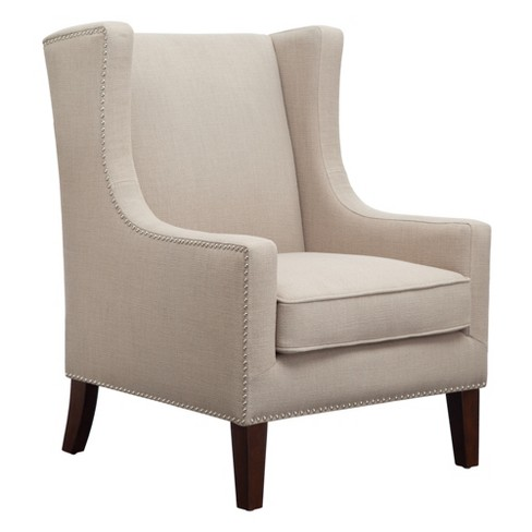 Colette Wing Chair Linen - image 1 of 6