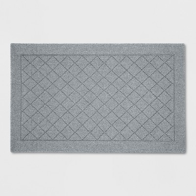 Gray Diamond Tufted and Hooked Washable Accent Rug 2'6 X4'/30 X48  - Threshold™