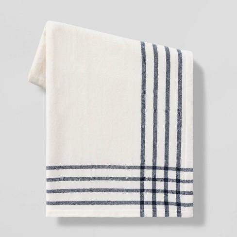 "50""x60"" Chenille Woven Border Plaid Throw Blanket - Threshold™ - image 1 of 4"