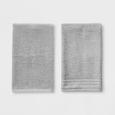 2pk Solid Hand Towel Sets Gray Mist - Room Essentials™