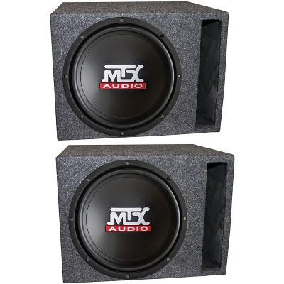 """2) MTX TN12-04 12"""" 400 Watt Car Audio Subwoofers + Vented Ported Box Enclosures"""