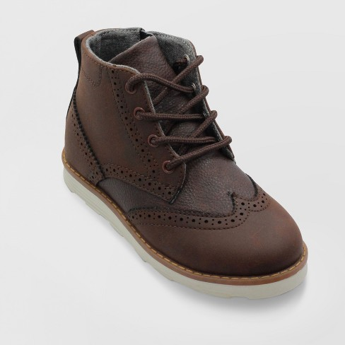 Boys' Kevin Wingtip Fashion Dress Boots - Cat & Jack™ Brown 5 - image 1 of 3