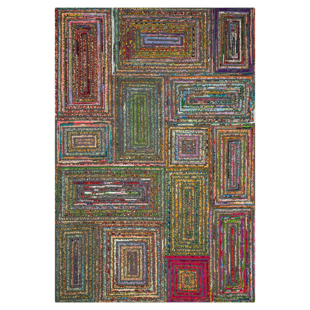Charcoal Abstract Tufted Area Rug - (6'X9') - Safavieh, Gray