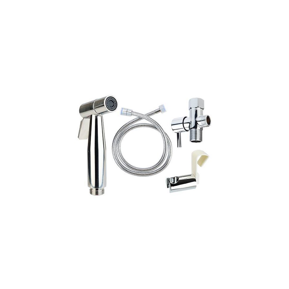 Image of Clean Spa Luxury Stainless Steel Hand Held Bidet Sprayer - Brondell, Silver
