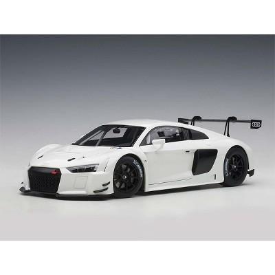 Audi R8 FIA GT GT3 Plain Color Version White with Black Wheels 1/18 Model Car by Autoart