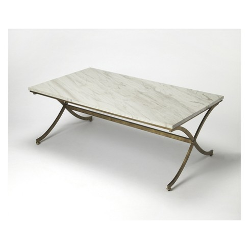Butler Specialty Pamina Travertine Cocktail Table Antique Gold - image 1 of 4