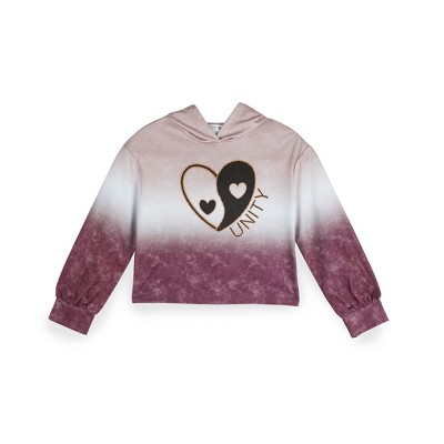 """Beautees Girls' """"Unity"""" Ombre, Long Sleeve Hoodie"""
