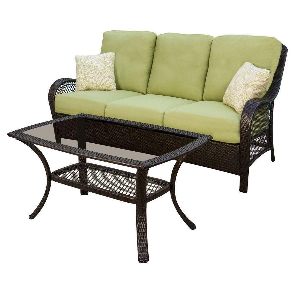 You\\\'ll be sitting in comfortable style while you enjoy the warm evening breeze or a backyard barbecue with this 2-Piece Patio Seating Set from Hanover. The all-weather wicker furniture and weather-resistant fabric will keep everything looking as good as new from season to season, giving you much delight each year. Gender: unisex.