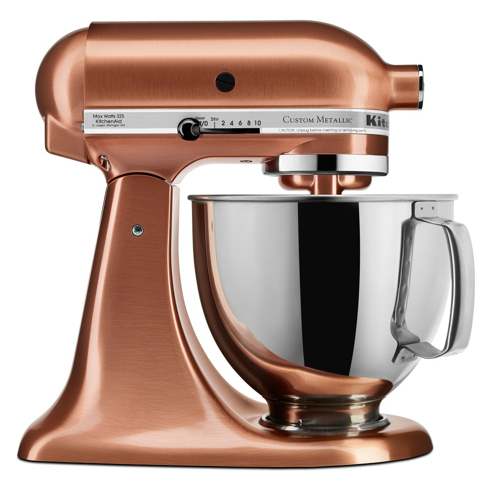 KitchenAid Refurbished 5qt Artisan Stand Mixer Satin Copper – RRK150CP 53960980