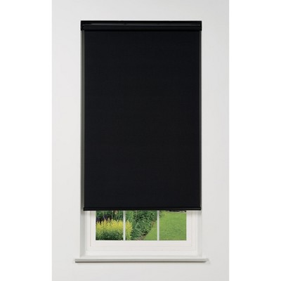 Linen Avenue Cordless 1% Solar Screen Standard Roller Shade, Black, Charcoal, and Gray
