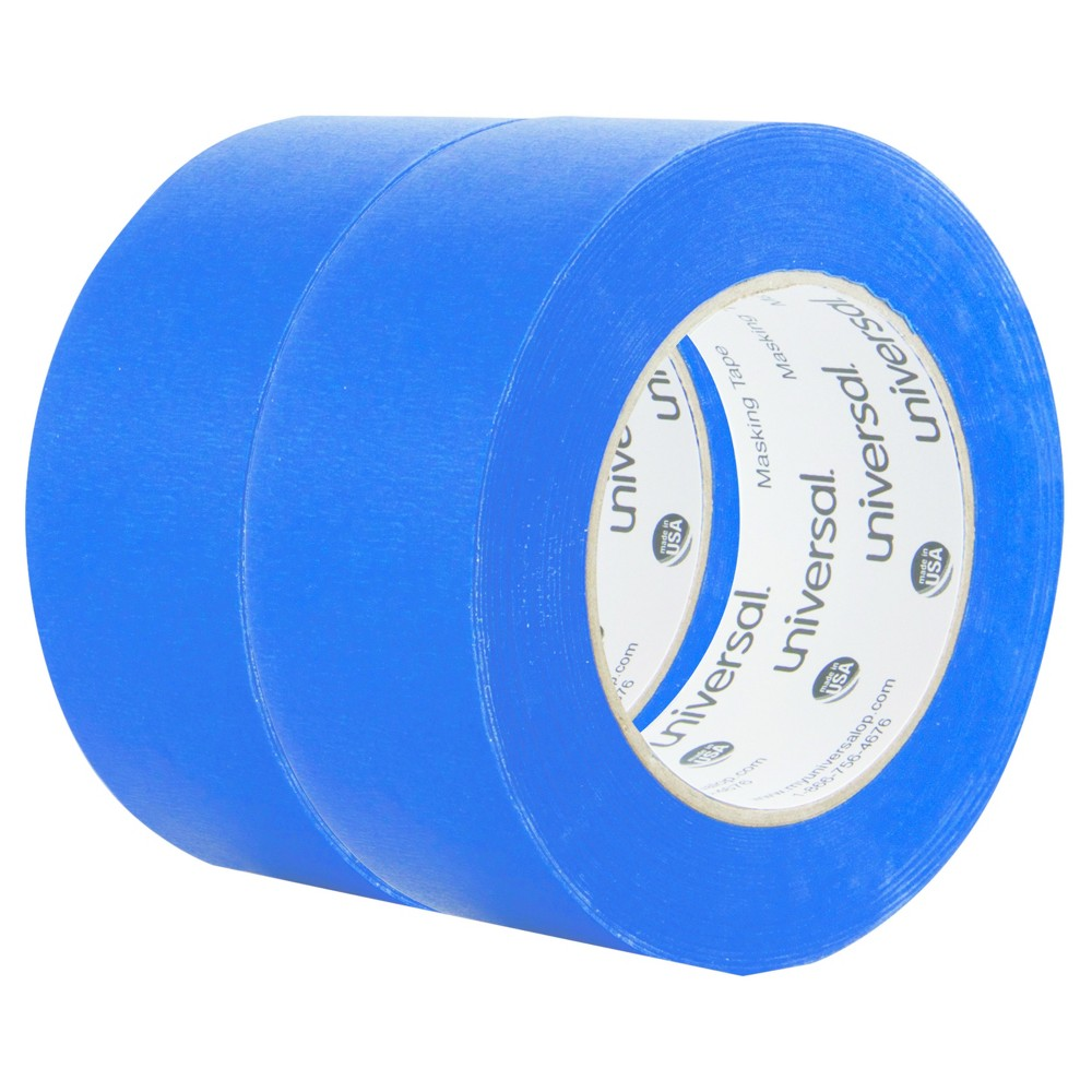 Universal Premium Blue Masking Tape with Bloc-it Technology, 48mm x 54.8m, Blue, 2pk