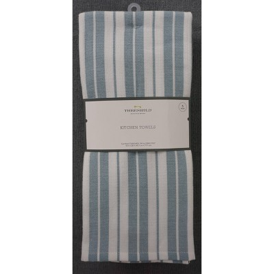 5pk Cotton Kitchen Towels Aqua - Threshold™