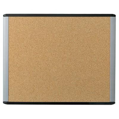 "U Brands 20""x16"" MOD Cork Bulletin Board Black/Gray Frame"