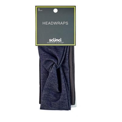 """Scunci Twist and Solid interlock Headwraps - 2.5"""" - 5ct"""