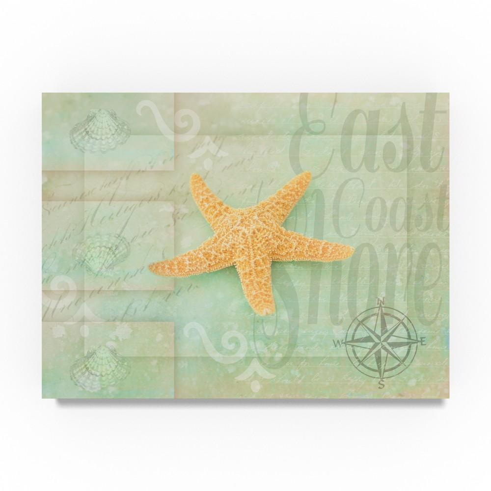 Lightbox journal Gypsy Sea Green Star Orange Unframed Wall 24