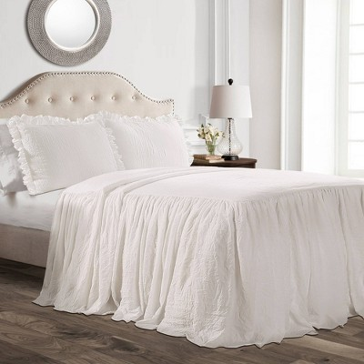Ruffle Skirt Bedspread Set - Lush Décor