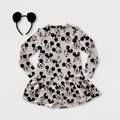Girls' Disney Mickey Mouse Dress with Headband - Gray - Disney Store