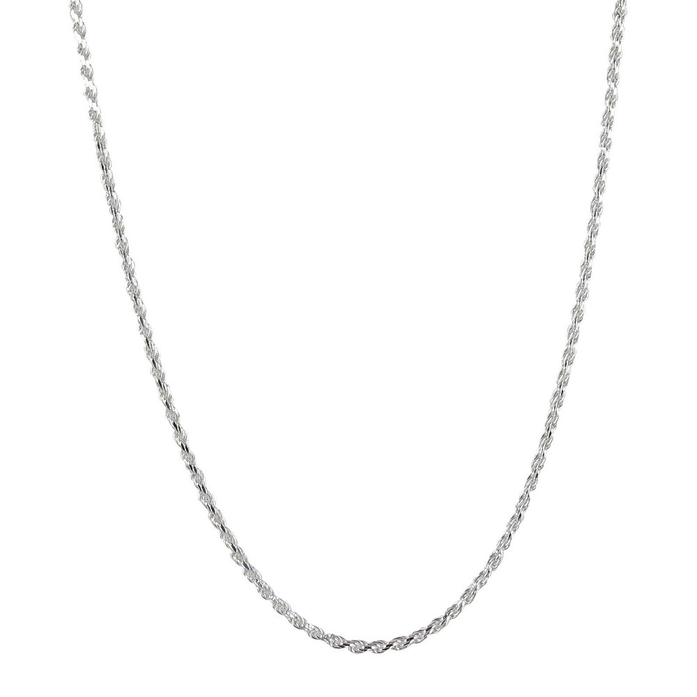 Sterling Silver Solid Chain Rope Necklace, Men's, Slvr