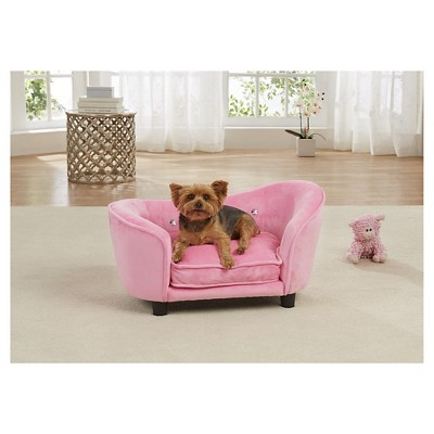 Enchanted Home Pet Ultra Plush Snuggle Pet Bed - Light Pink