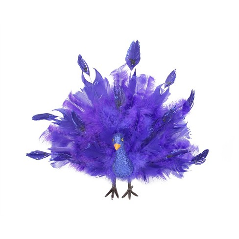 """Northlight 13.5"""" Peacock Bird with Open Tail Feathers Christmas Ornament - Purple/Blue - image 1 of 2"""