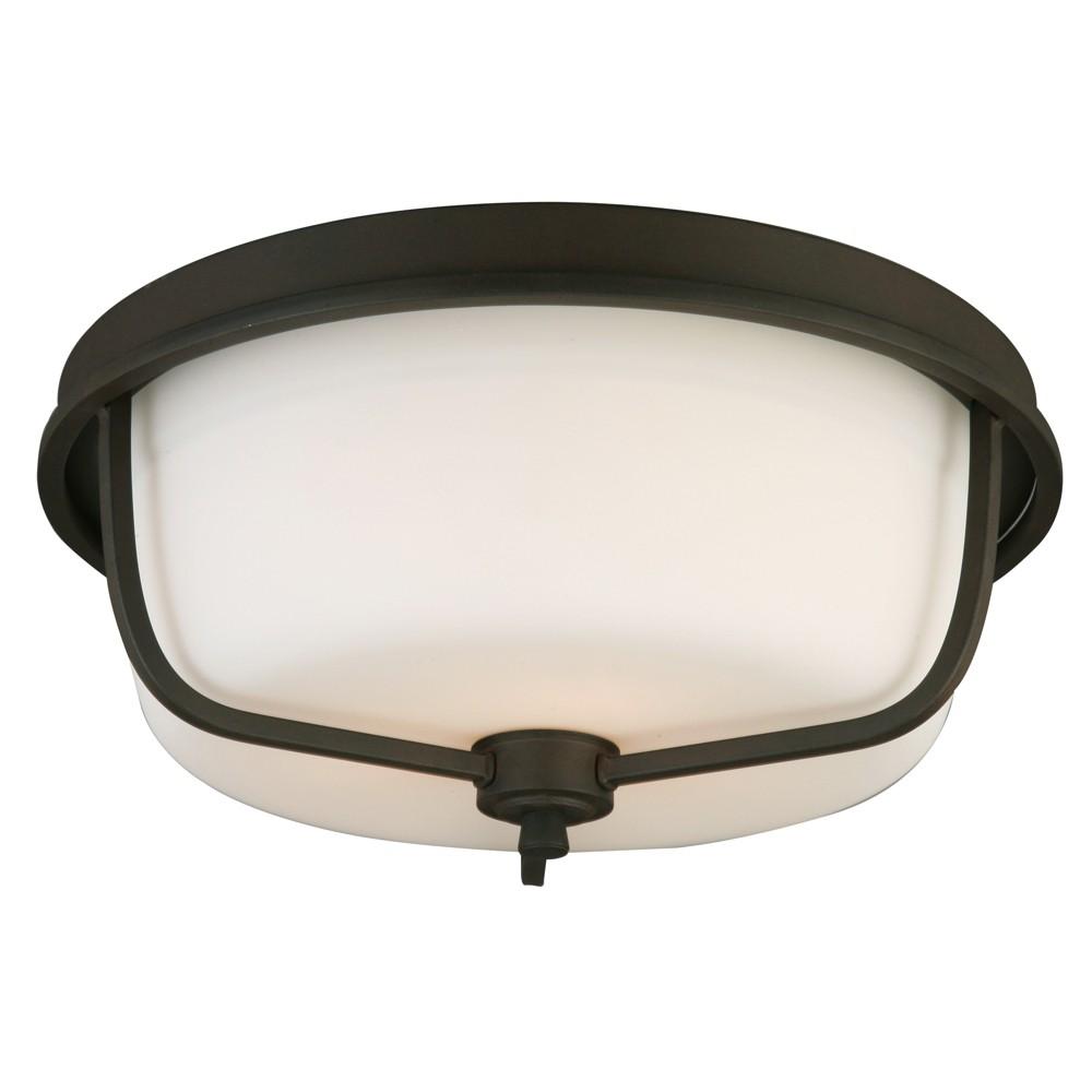 Image of Mayview Flush Ceiling Lights Bronze/White - EGLO