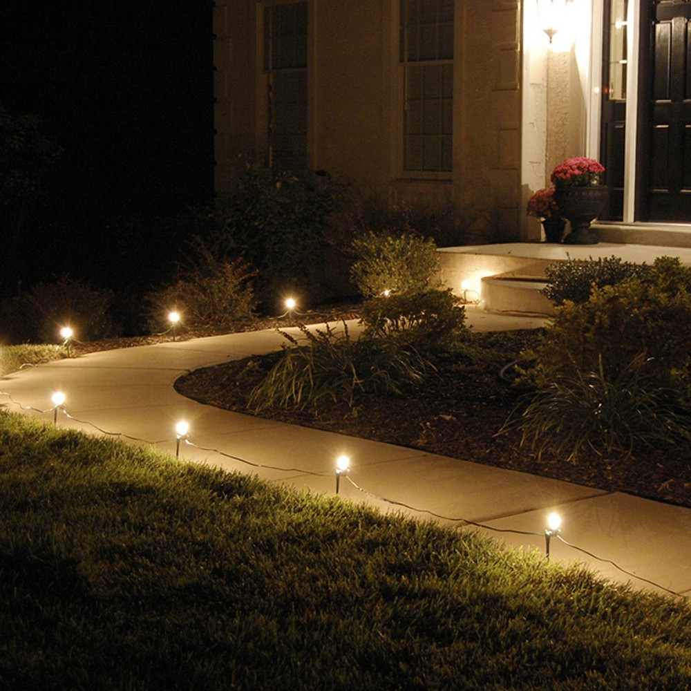 10ct Electric Pathway Lights Clear