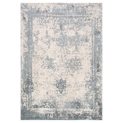 Blue Solid Woven Area Rug - (2'x3')- nuLOOM