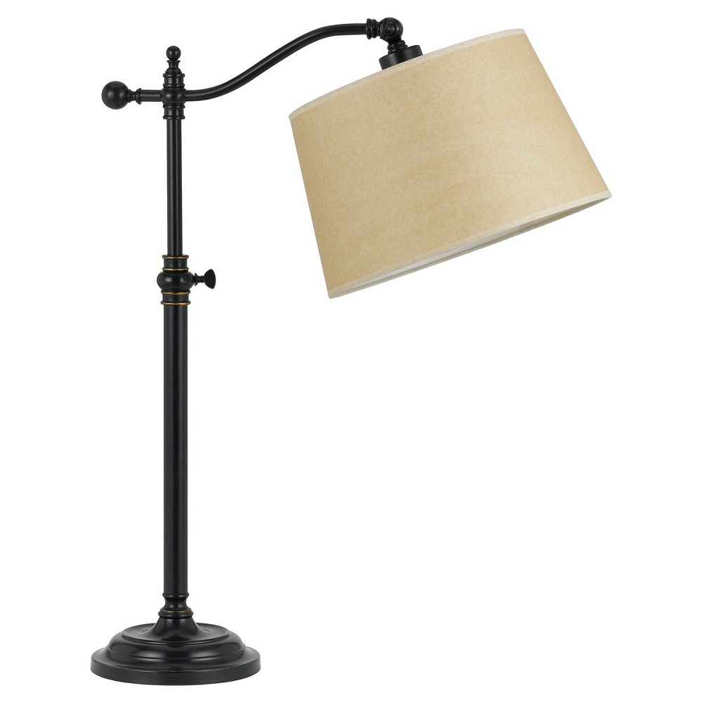 Cal Lighting Wilmington Dark Bronze finish Metal Table Lamp with Adjustable Height (Lamp Only)
