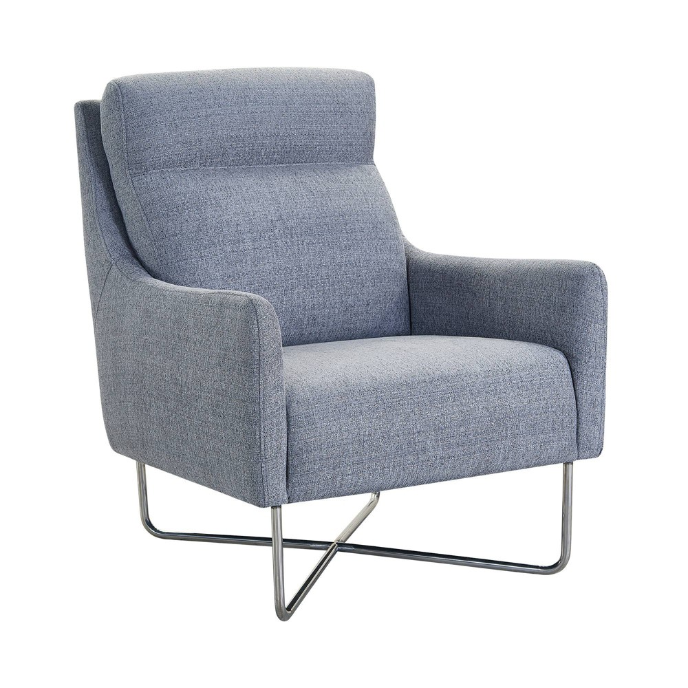Image of Amber Contemporary Swoop Arm Accent Chair Graphite - Armen Living