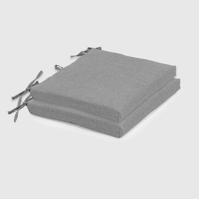 2pk Outdoor Seat Cushions Gray - Threshold™