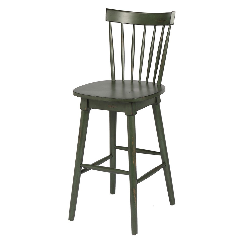 24 Elise Bar Height Swivel Stool Green - Foremost