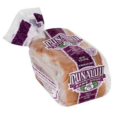Punalu'u Bake Shop Taro Sweetbread Rolls - 16oz